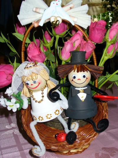 Lustiges Hochzeitspaar